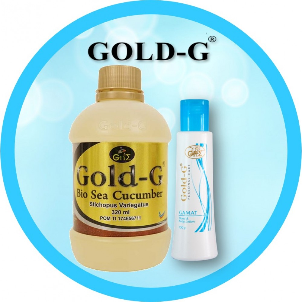 Gold-G<sup>®</sup> Bio Sea Cucumber Jelly 320ml & Gamat Hand Body Lotion 100gr